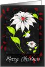 Poinsettia Chalkboard Themed Christmas card