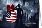 Christmas Remembrance Servicemen & Women - American Flag card