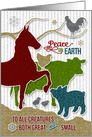 Peace on Earth Barnyard Animals | Holiday Stamp Style card