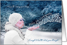New Year - Winter Scene - Peace Joy and Prosperity card