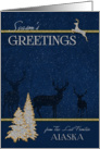 Alaska - The Last Frontier - Woodland Deer Silver and Gold card
