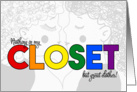 Lesbian Coming Out - LGBT Rainbow Announcement card
