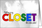 Gay Coming Out - LGBT Rainbow Announcement card