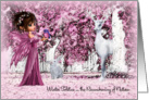 Winter Solstice Pink Enchanted Forest card