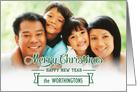 Custom Christmas Green Word Art Photo Card
