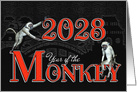 Year of the Monkey Chinese New Year for 2016 card