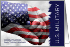 Military Basic Training Graduate - Hand in Hand with Flag card