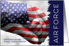 Air Force Military Academy Graduate - Hand in Hand with Flag card