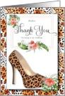 Custom Bridal Thank You - Cheetah Animal Print with Stiletto card