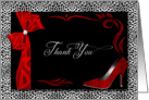 Bridal Thank You - Silver Cheetah Print with Red card