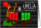 Kwanzaa Day 1 Unity the Lighting of the Black Kinara Candle card