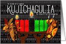 Kwanzaa Day 2 Kujichagulia Self Determination with Kinara Candles card