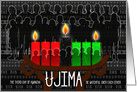Kwanzaa Day 3 Ujima Responsibility with Kinara Candles card