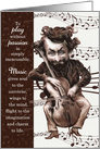 Musician's Birthday - Funny Vintage Cello Caricature card
