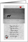 Pet Sympathy Loss of a Dog card