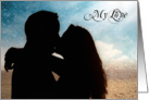 Sweetest Day Romantic Couple Kissing on the Beach card
