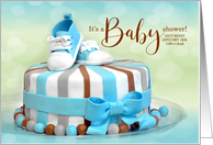 Baby Shower Invitation in Baby Blue for Boys card