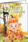 Baby's 1st Thanksgiving Sweet Teddy Bear and Pumpkin card