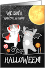 from Both of Us on Halloween Funny Ghost Dogs card