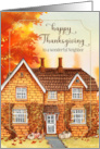 For Neighbor Thanksgiving Autumn in the Park card