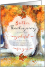 for Brother on Thanksgiving Sentimental Autumn Path card