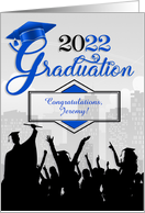Custom Congratulations Graduate Class of 2013 Blue card