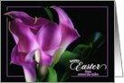 Easter Blessings From Across the Miles Black and White Lily card