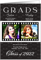 Class of 2013 Twin Graduation Party Invitation Photo Card Film Strip card