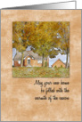 Thanksgiving in Your New Home Fall Watercolor card