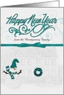 Happy New Year Custom Front Snowman card