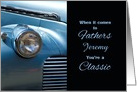 for Brother on Father's Day Custom Classic Car in Blue card