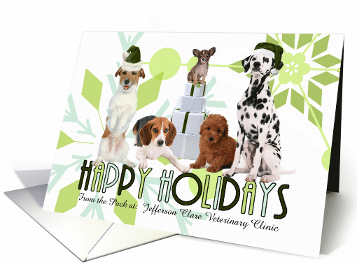 Holiday greeting cards for pet related businesses for pet lovers 5x7 two fold holiday paper greeting cards m4hsunfo