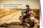 Biker Chick Birthday card
