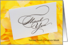 National Family Caregivers Month - Elegant Thank You card