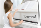 Piano Recital Congratulations for Young Girl Encore card