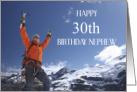 Mountain Climber 30th Birthday for Nephew card