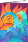 Blank - Waves at Sunset card
