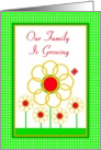 Adoption, Our Family is Growing, Marigold Garden card