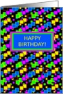 Happy Birthday, Organized Confetti, blank inside card