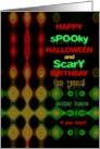 Happy Birthday on Halloween! Hypnotic and Scary card