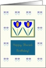 Happy Shared Birthday!, Two Tulips, Graphic Design card