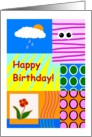 Happy Birthday, Cute Collage, Youthful card