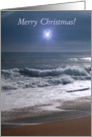 Merry Christmas Guiding Star Beach card