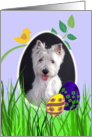 Easter Card featuring a West Highland White Terrier card