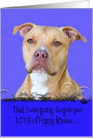 Fathers Day Licker License - featuring an American Staffordshire Terrier card