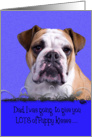 Fathers Day Licker License - featuring an English Bulldog card