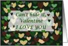 Camo Camouflage Valentine card