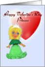 Princess Valentine, Young Princess in Pink card