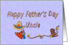 Fathers Day for Uncle Western Style, hat, bandana,boot, rope card