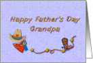 Happy Father's Day Grandpa, cowboy or rodeo theme card